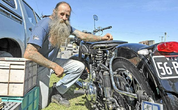Neil Rodway of Barkers Vale at the swap meet at Lismore Showground.