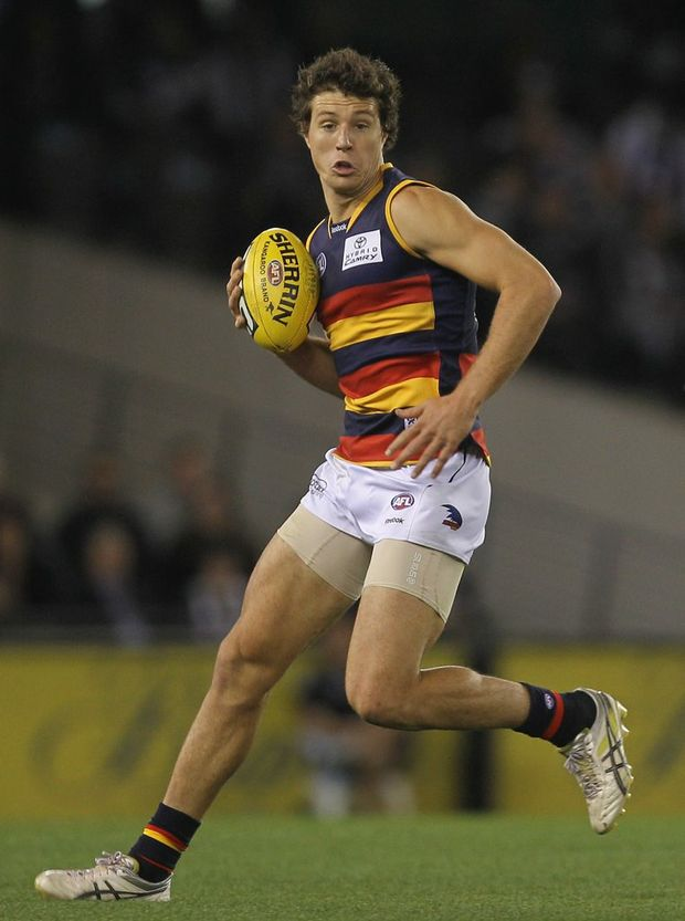Kurt Tippett of the Crows in action during the round nine AFL match between the Collingwood Magpies and the Adelaide Crows at Etihad Stadium on May 22, 2011 in Melbourne, Australia.