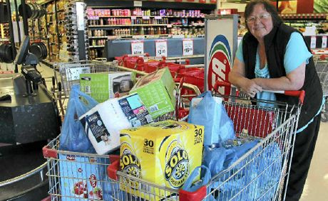 Jenny Wallace did not mess around at the Supa IGA Warwick grocery grab yesterday.