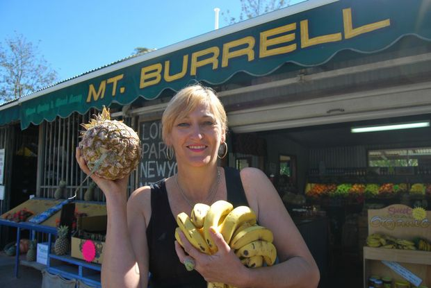 Mt Burrell resident Marta Stobbie says the steady stream of travellers coming through the town makes life more interesting.