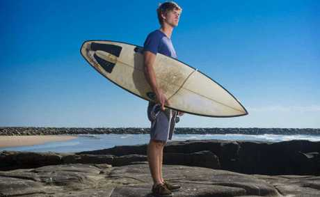 Nathan Rheinberger of Yamba has been awarded a Commendation for Brave Conduct for his rescue of two teenagers at Turners Beach in 2009.