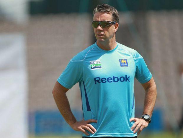 Stuart Law, while coaching Sri Lanka.