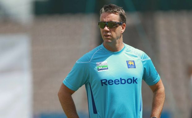 Stuart Law, while coaching Sri Lanka.