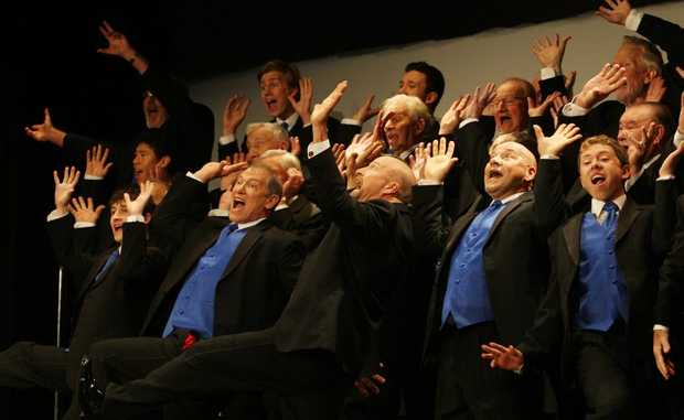 """Singfest 2012- """"Blenders"""" put on a show Photo- Blainey Woodham / Daily News"""