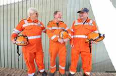 SES volunteers Denise Hurcum, Mark Sekulic and Graham Hottes at the State Emergency Service region headquarters in South Grafton.