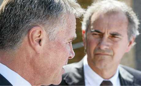 Deputy premier Andrew Stonerwith Chris Gulap