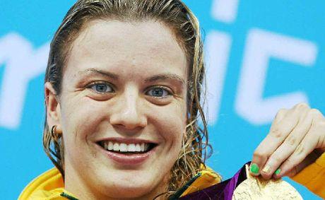Jacqueline Freney on the Games podium.