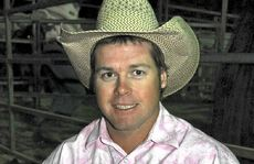 Mark Collins after his saddle bronc victory on Saturday night at St Mary's Bull Ride and Bronc Bonanza.