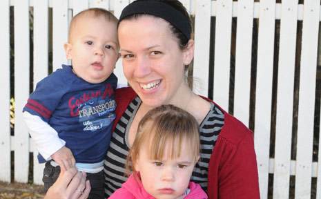 Hattan Vale mum of Zachary and Abigail Friend(pictured), Amanda Friend has started a campaign to get a park and playground equipment in her area.