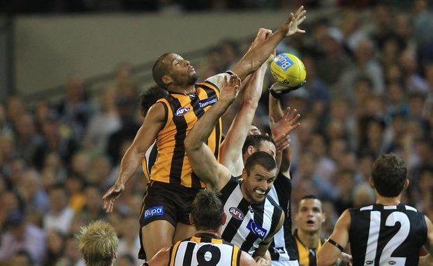 The Hawks play the Magpies at the MCG on Friday.