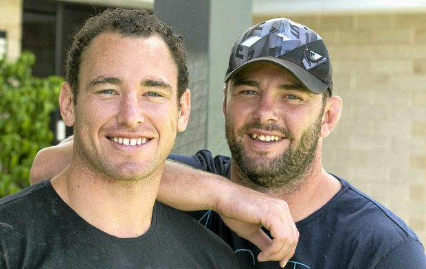 Ben and Jaiman Lowe spend some time together last Christmas back at home in Toowoomba.
