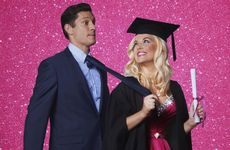 Lucy Durack and Rob Mills star in the Australian production of Legally Blonde The Musical.