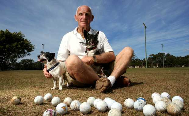 George Chapman, with dogs Dino and Mini, fears Arkinstall Park is no longer a friendly place to walk to dog.