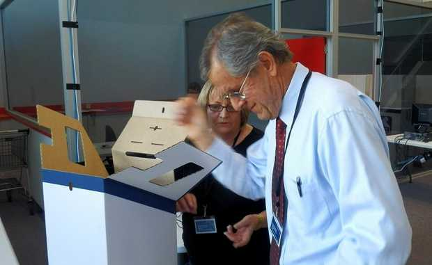 Returning officer Leendert Sparreboom, pictured at the ballot draw, has almost finalised the count of first preference votes.