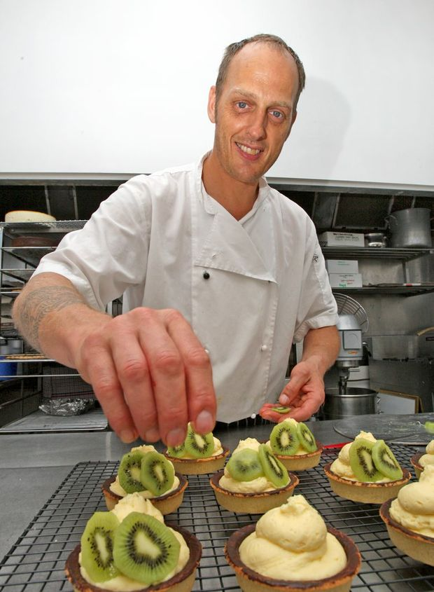 Chef Georg Keml hard at work in the kitchen at South Tweed Sports Club.