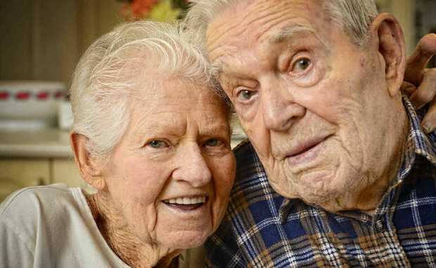 Elsie and Mick Heath celebrate their 70th wedding anniversary today.