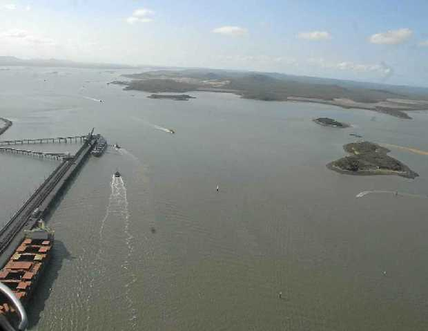 An aerial view of Gladstone Harbour.