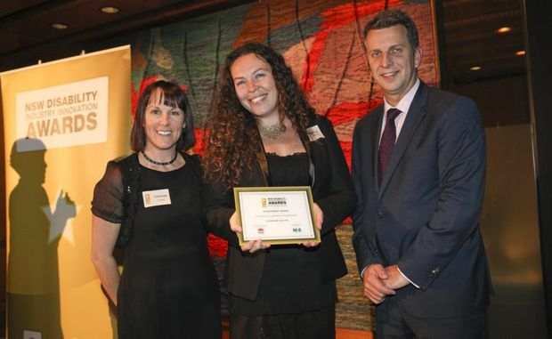 Lifebridge CEO Rebecca Mussett accepts the award for Excellence in Organisational Development.