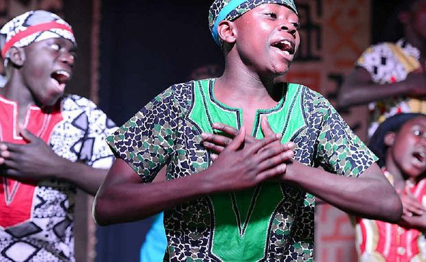 The Watoto Children's Choir performs on the Sunshine Coast to an enthusiastic crowd.