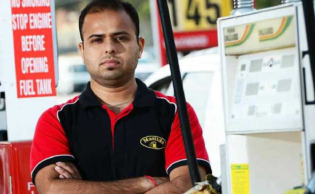 North Ipswich Matilda Service Station owner Bob Kalra will sign up for the drive-off register.