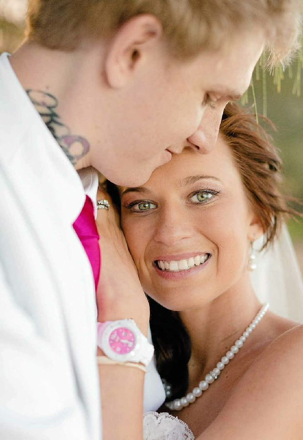 Keeana and Brad Kruger on their wedding day.