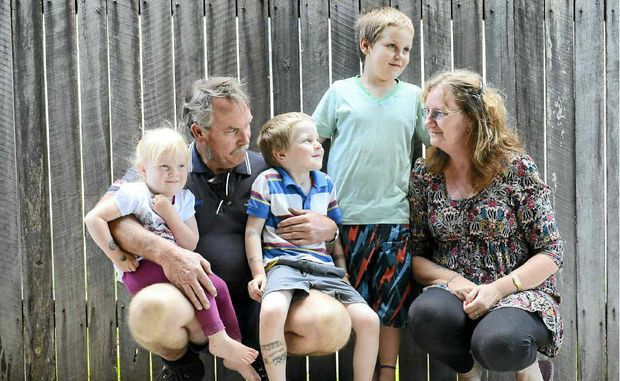 Elyse, Aubrey, Aynslie, Travis and Sandra Roberts have finally found a house to rent after their South Grafton home was damaged by fire earlier this month.