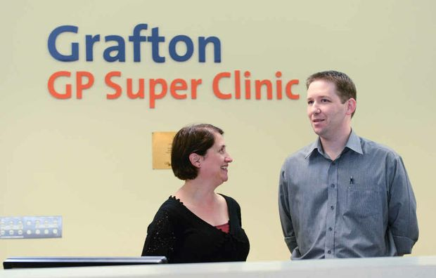 New psychologist at the Grafton GP Superclinic Belinda Cooper with practice manager Nathan Riseley.