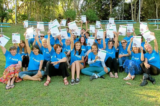 HELPING OUT: Schoolies volunteers show off their first aid certificates.