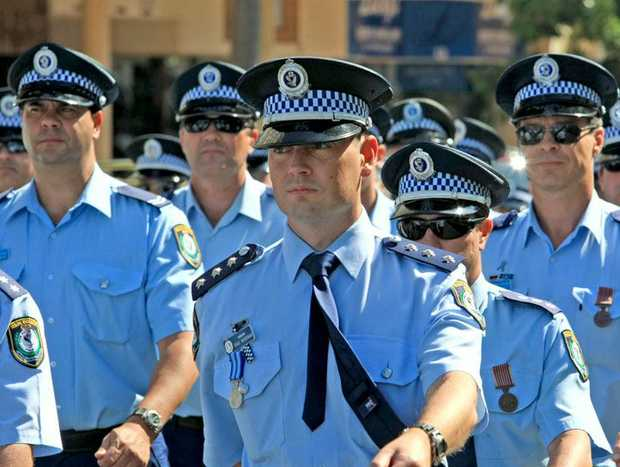 Combined Police March in Griffith St Coolangatta