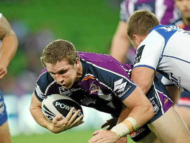 Melbourne Storm's Ryan Hoffman will run on to the field today to play the Bulldogs.