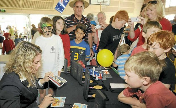 WELCOME HOME: Skennars Head Paralympian Jacqueline Freney meets fans at Lennox Head on Tuesday.