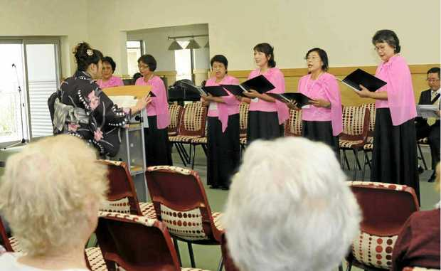 JAPANESE ENTERTAINMENT: The Cherry Ensemble performs at Crowley Village in Ballina.