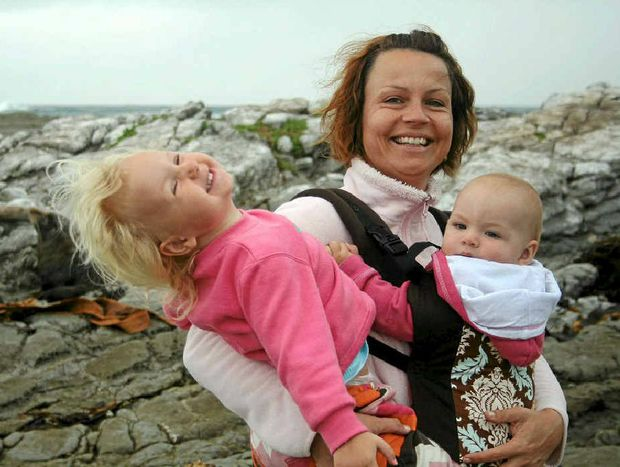 A happy snap of Vanessa Brown of Ashby and her daughters Evie and Lola. Vanessa was diagnosed with a brain tumour a few weeks ago and has been overwhelmed by the community's support.