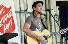 Pete Murray perform at the opening of the Sony Foundation and The Salvation Army Goodna Youth and Community Centre.