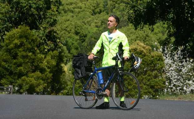 Bernie Spiller, cycling commuter. Photo: John Gass / Daily News