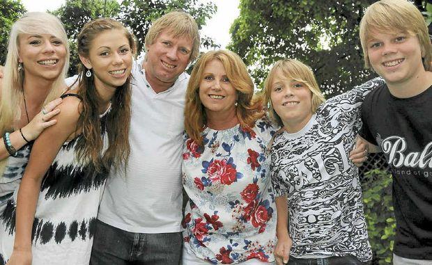 The Durrington family on holidays in Bali in 2009. From left, Alysha, Bethany, Ian, Kerry, James and Thomas.
