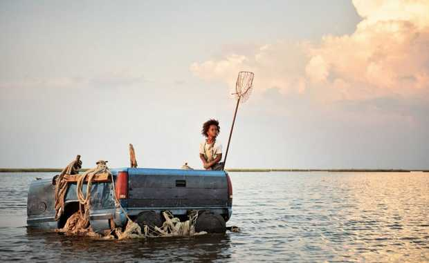 Quvenzhané Wallis in a scene from the movie Beasts of the Southern Wild.
