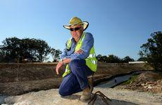Kirkwood Dr, road works. Jim Rosolen Photo: John Gass / Daily News