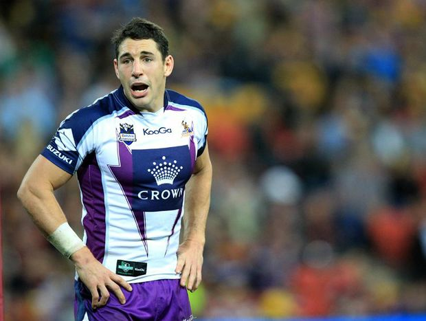 Melbourne Storm fullback Billy Slater in a round 24 game against the Brisbane Broncos in August, 2012.