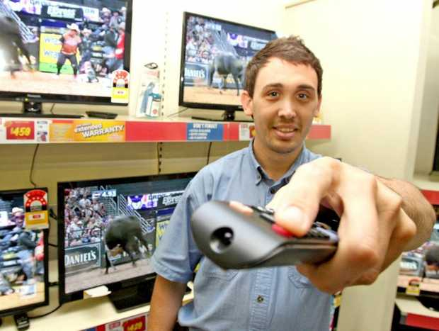 With analogue TV being switched off, Ben Fairbank has all your options covered at The Good Guys South Tweed. Photo: Blainey Woodham / Daily News