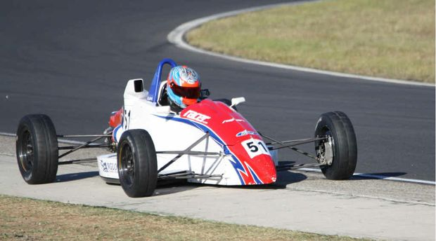 RED HOT: Emerald Formula Ford driver Andrew Gillespie has taken out this season's championship.