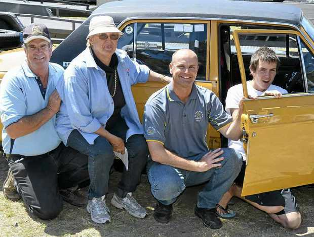 Peter, Denise, Jeff and class winner Ryan Staude at the Queensland Super Sprints Championships at Morgan Park Raceway.