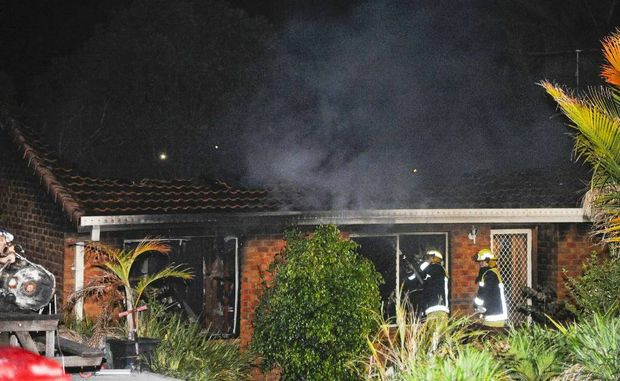 The scene of a house fire in Peppermint Place, South Grafton, which gutted this home. Photo JoJo Newby / The Daily Examiner