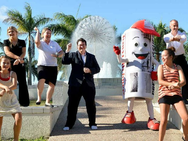 MP George Christensen and Merc Man lead the Gangnam Style dance.
