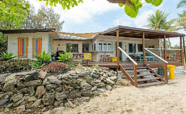 A holiday shack to die for – complete with a beer fridge.