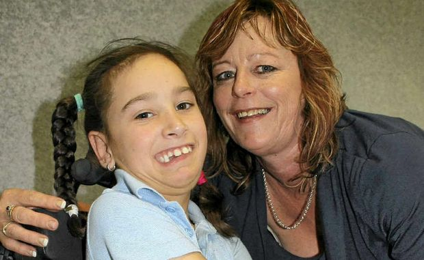 Michelle Flanagan surprised her granddaughter Bailey at Warwick East State School's Grandparents Day on Thursday.
