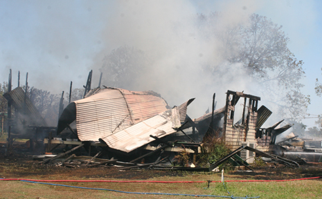 BURNT TO THE GROUND: A Greycliffe family of seven lost everything in this house fire on Wednesday morning.