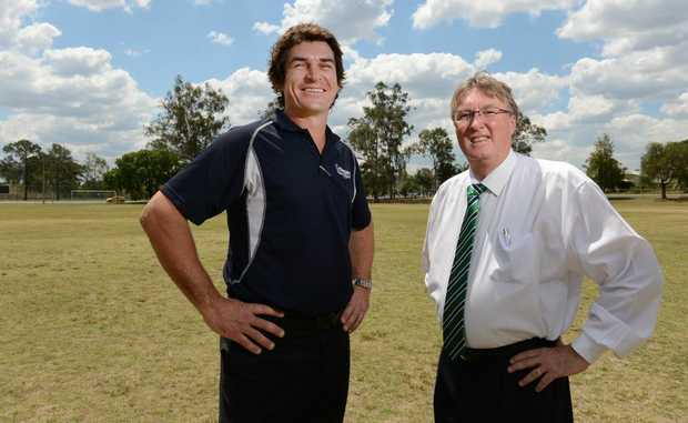 Western Pride Football Club chairman Kym Wickstein (right) seen here with club GM Pat Boyle.