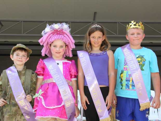 WINNERS: Jacaranda Page Boy 2012 Jacob Jones (6), Jacaranda Flower Girl 2012 Brigette Jamieson (7), Jacaranda Party Princess 2012 Sarah Rigby-Pierse (9) and Jacaranda Party Prince 2012 Logan Eggleton (9).