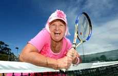 Jan Naday at Tweed Heads tennis club for pink for breast cancer awareness. Photo: John Gass / Daily News